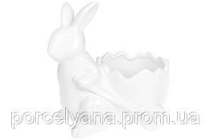 Фигурка зайчик с тележкой для декоративных композиций 22 см BonaDi