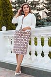 Женский элегантный костюм платье+пиджак от50-до56р.(5расцв), фото 7