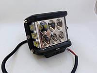Дополнительные светодиодные противотуманные LED фары (1шт) W 0260 24W ближнего света с боковым ∠90° LED-фары
