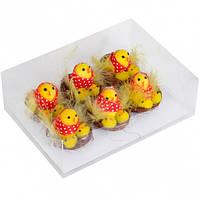 Цыплята в гнезде в  платочке 5 см  1 шт