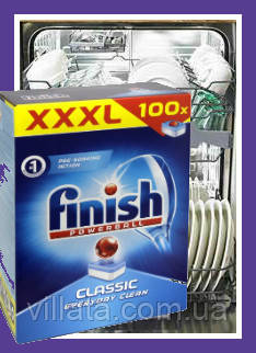 Таблетки для посудомоечной машины Finish Classic 100шт. Таблетки для посудомойки Финиш
