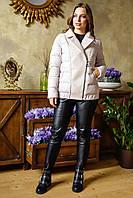 Комбинированная  качественная женская куртка Карэн, разные цвета