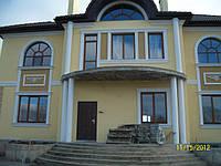 Арочные  евроокна из деревянного евробруса , фото 1