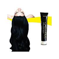 Стойкая крем краска для волос Иссине чёрный 1.1 Εxclusive Hair Color Cream 100 мл