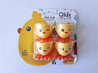 Подставка под яйцо на ножках в наборе из 4-х штук d 4,5 cm, h 5 cm.