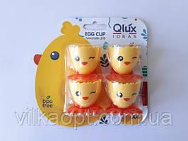 Підставка під яйце на ніжках у наборі з 4-х штук d 4,5 cm, h 5 cm.
