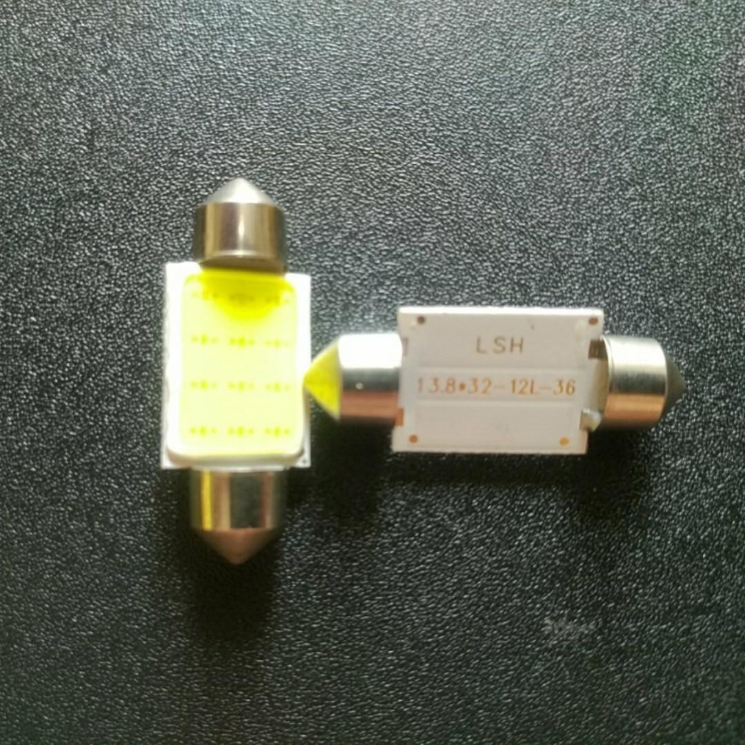 Светодиодная лампа для салона авто 0.9 w супер яркая 36 мм C5W