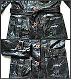 Жіноча шкіряна куртка Б/У Розмір S / 44-46, фото 9