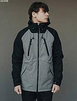 Куртка Staff soft shell black & gray ros. [Размеры в наличии: XS,S,M,L,XL]