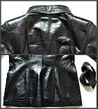 Жіноча шкіряна куртка Б/У Розмір S / 44-46, фото 7