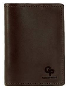 Шкіряна коричнева обкладинка для автодокументів Grande Pelle (202120)