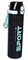 Бутылка-поилка спортивная ST01474 750 мл, черно-голубая, фото 1