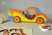 3D модель-розмальовка UGEARS Автомобіль / 3D модель-разрисовка Югирс Автомобиль
