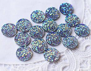 Друза акриловая, 11 мм, голубой АВ