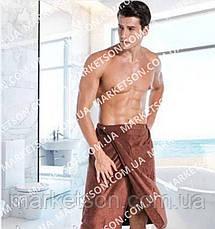 Полотенце-килт мужская юбка в сауну. Микрофибра 140х70, фото 3