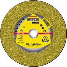 Круг отрезной по металлу А 24 Extra 230х3х22,23,  Kronenflex GER  Klingspor