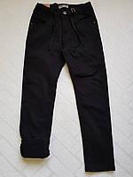 УТЕПЛЁННЫЕ,Черные, Котоновые брюки на флисе для мальчиков.Размеры 122-152 см.Фирма TAURUS