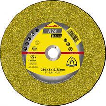 Круг отрезной по металлу А 24 Extra 230х2х22,23, Kronenflex GER  Klingspor