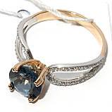 Золотое кольцо с топазом НХК-46, фото 2