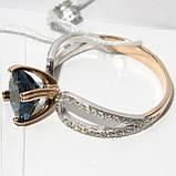 Золотое кольцо с топазом НХК-46, фото 3