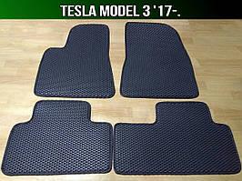 ЕВА коврики на Tesla Model 3 '17-. Ковры EVA Тесла Модел 3