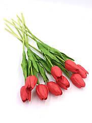 Искусственные тюльпаны Real touch красный