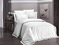 Комплект постельного белья First Choice Novel Line Beyaz сатин семейный белый, фото 1