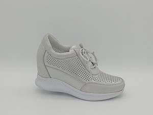 Летние кожаные туфли на танкетке. Сникерсы. Erisses. Маленькие размеры ( 33 - 35 ).