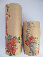 Формы для выпечки бумажные 70*85 Цветы