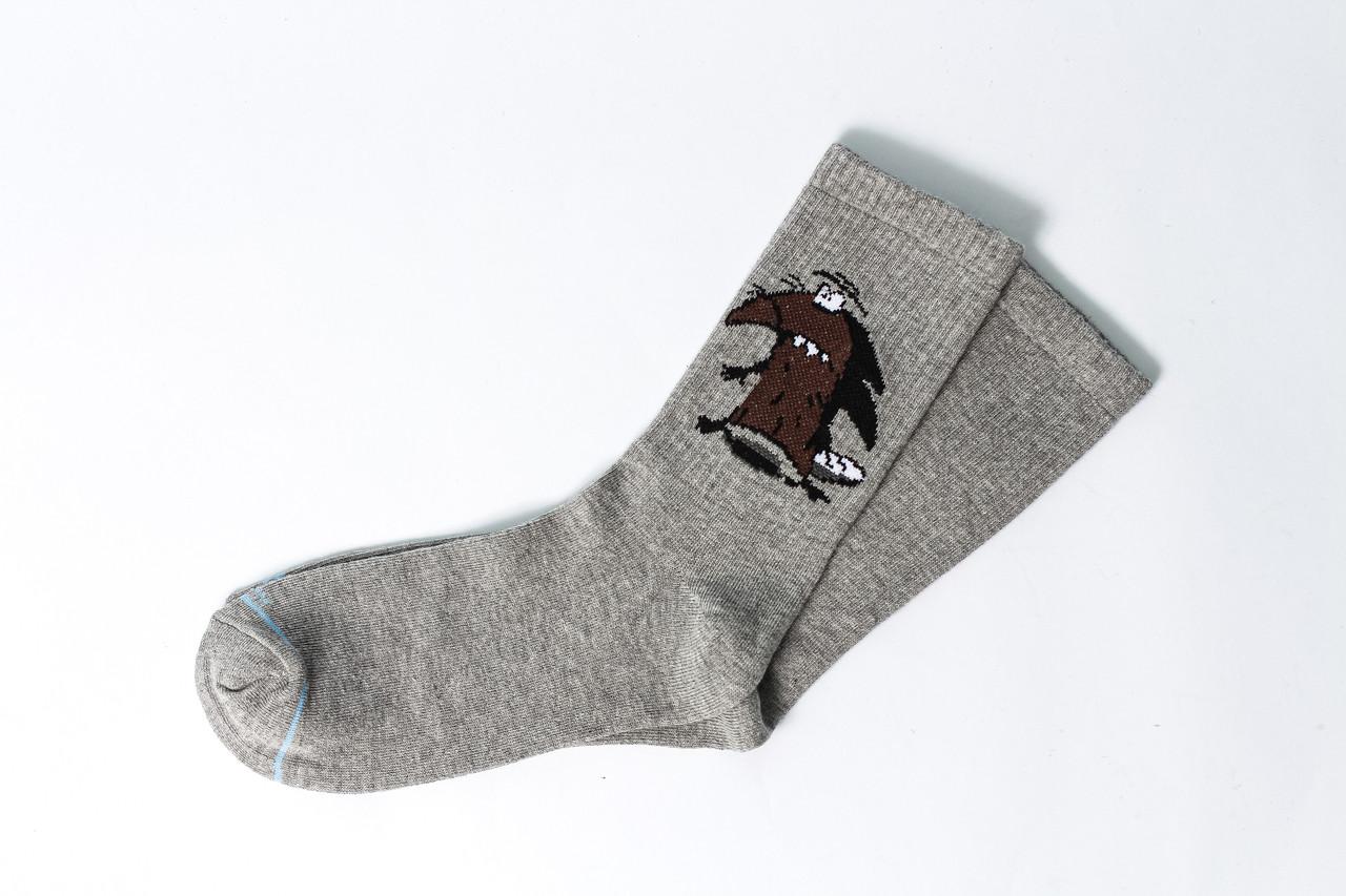 Женские носки LOMM Premium Бобры серые