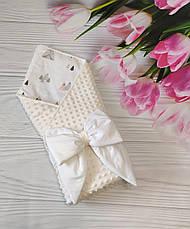 """Детский демисезонный конверт на выписку """"Бубон"""", конверт-одеяло (ВЕСНА/ОСЕНЬ), конверт-плед для новорожденного, фото 3"""