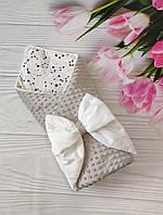 """Детский демисезонный конверт на выписку """"Бубон"""", конверт-одеяло (ВЕСНА/ОСЕНЬ), конверт-плед для новорожденного"""