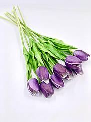 Искусственные тюльпаны силиконовый фиолетовый