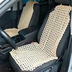 Деревянный массажер на сиденье (Лакированный) Гарантия качества