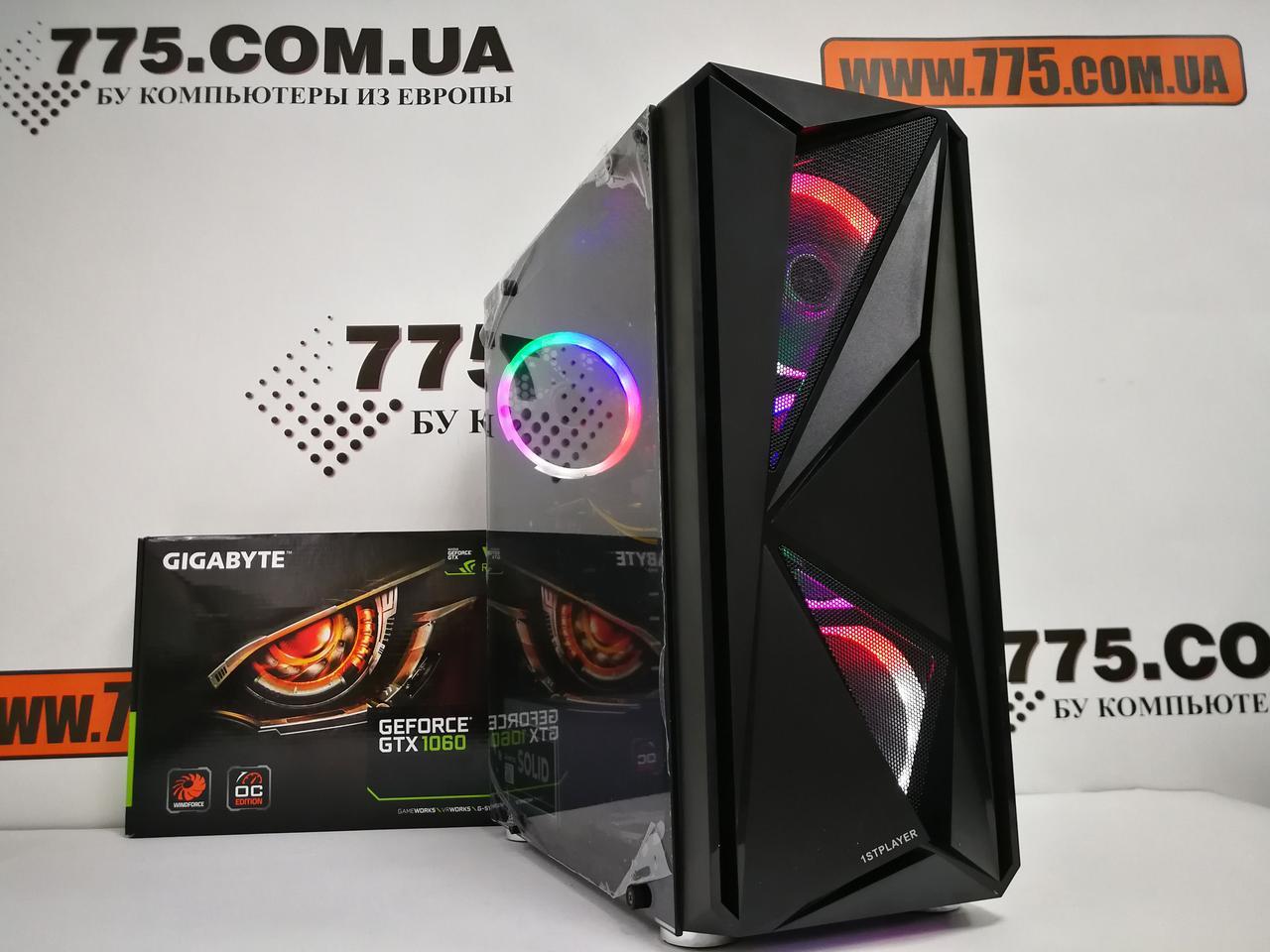Игровой компьютер, Intel Core i5-2400 3.4GHz, RAM 8ГБ, SSD 120ГБ, HDD 500ГБ, GTX 1060 3ГБ