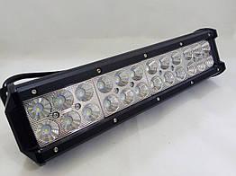 Светодиодная LED противотуманная фара балка ЛИДЕР (1 шт) D 72W ближнего света 300x100x65