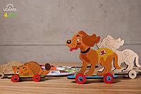 3D модель-розмальовка UGEARS Котик і песик / 3D модель-разрисовка Югирс Котик и собачка