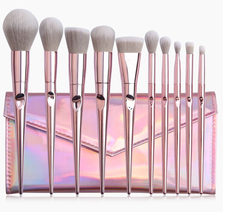 Набор кистей для макияжа 10шт Pink Glow оригинал