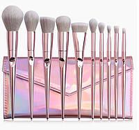 Набор кистей для макияжа 10шт Pink Glow оригинал, фото 1