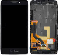 Дисплей (экран) для телефона Motorola RAZR HD XT925 + Touchscreen with frame Original Black