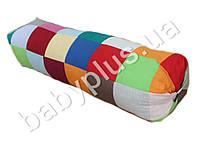 Подушка валик Лоскуток для беременных и кормления, бязь, холлофайбер. 160X30X30