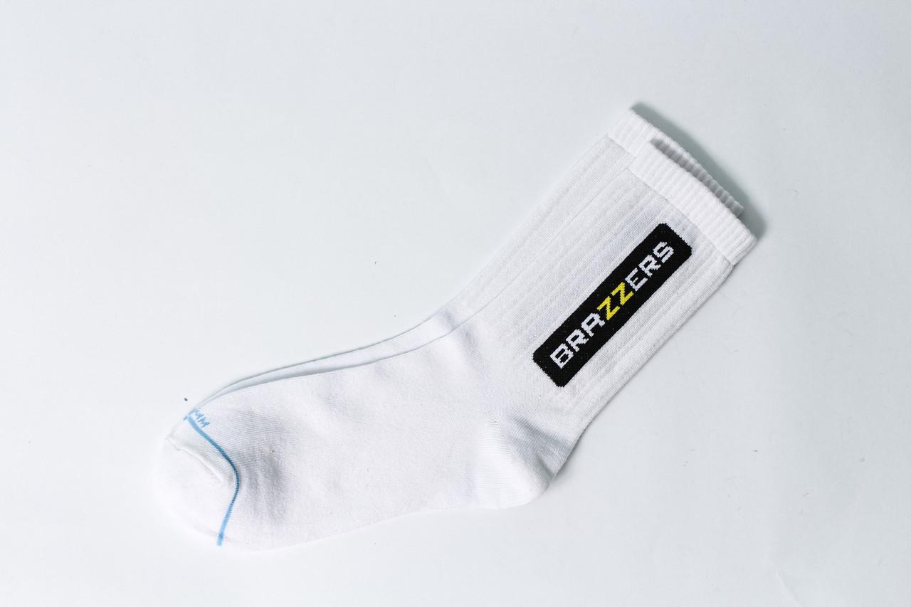 Чоловічі шкарпетки LOMM Brazzers Premium білі