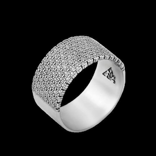 Серебряное кольцо широкое Эпатаж