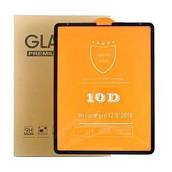 """Защитное стекло 10D для iPad Pro 12.9"""" черное"""