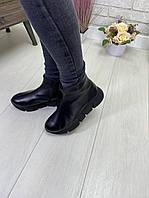Женские ботиночки Кожа