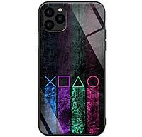 Чехол-накладка TPU+Glass ForFun для iPhone 11 Pro Max (Разноцветный PS)