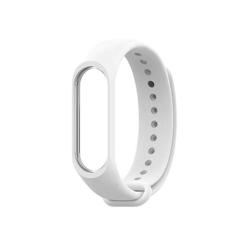 Ремешок для фитнес - трекера Xiaomi Mi Band 3/4 Белый