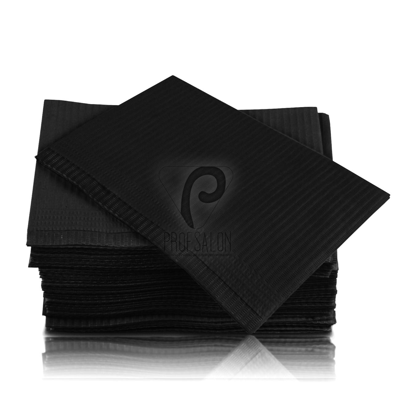 Непромокаемые салфетки на рабочий стол мастера маникюра, 125 шт, 45х32см, черные