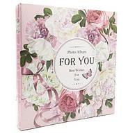 """Фотоальбом магнитный на 20 листов """"Цветы"""", цвет розовый,  размер: 29-28 см"""