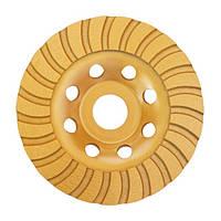 Фреза торцевая шлифовальная алмазная Turbo 150x22,2 мм., 20-22% , 0.7 кг  INTERTOOL CT-6250